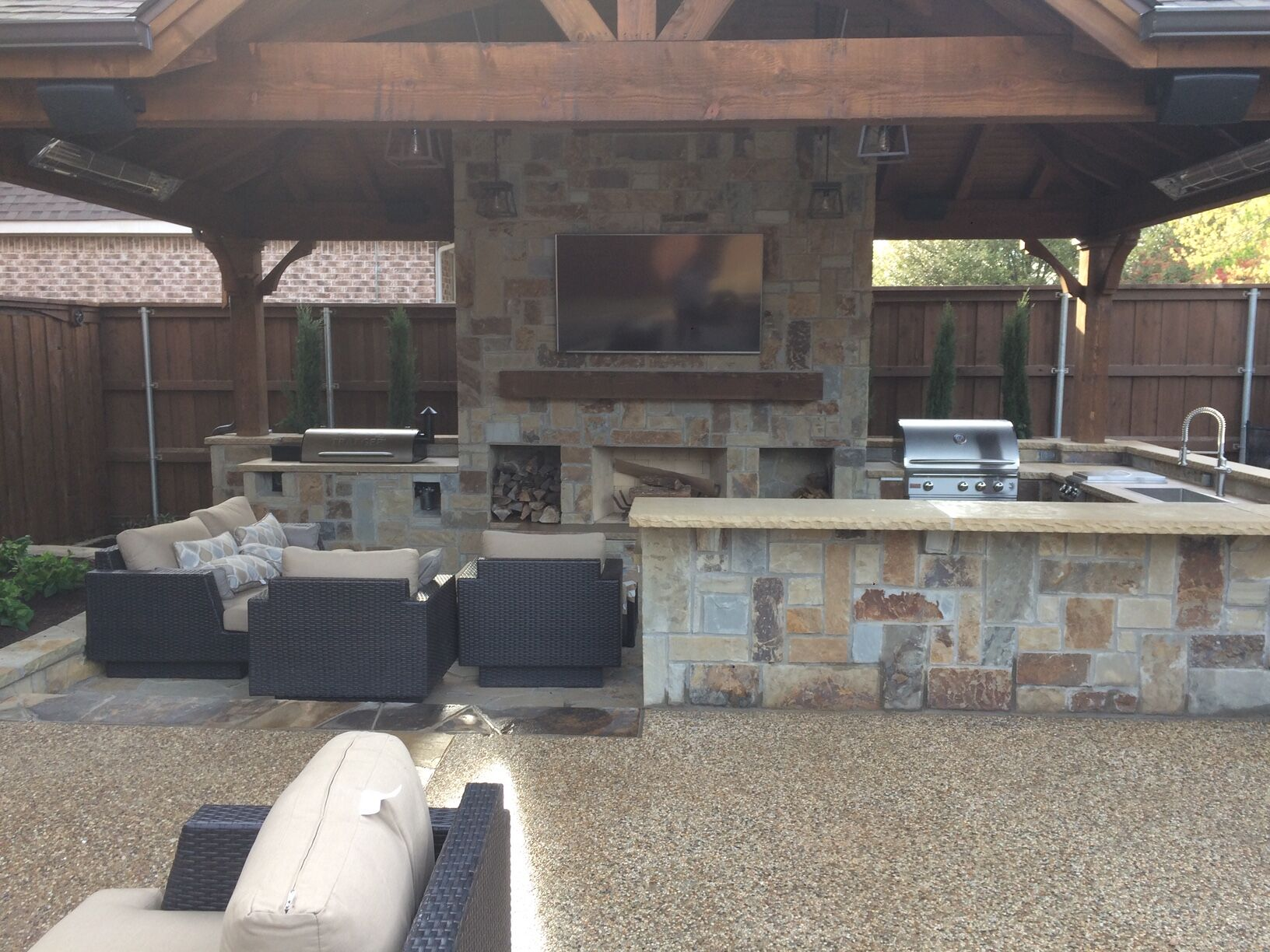 Outdoor Kitchen by Impact Landscapes LLC in Dallas, TX - 972-849-6443