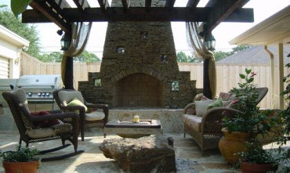 Custom Fire Places by Impact Landscapes - 972-849-6443